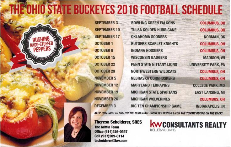 buckeye schedule